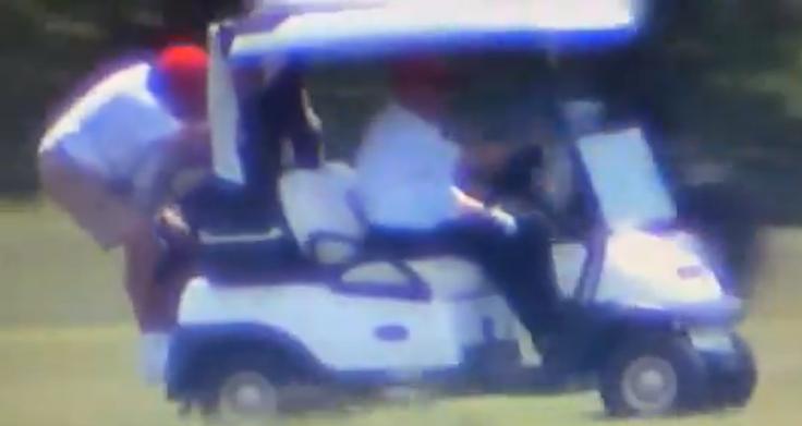 Trump Golf cart