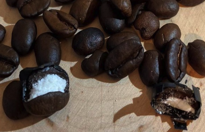 Italian police find cocaine stuffed individually into hundreds of coffee beans