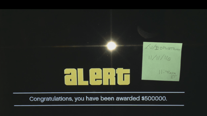 GTA 5 Online: Bonus in-game cash notification alert