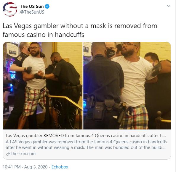 Las Vegas Casino Mask