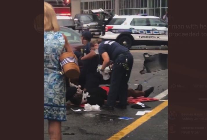 woman runs over husband