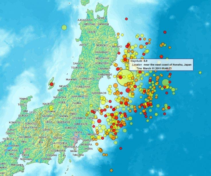 Tohuku earthquake and aftershocks