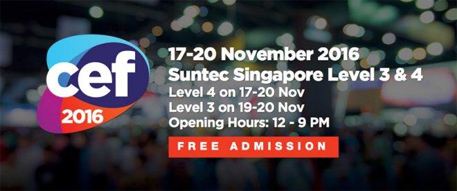 CEF 2016 Suntec Singapore