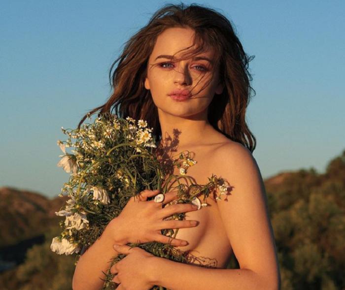 Joey King Goes Topless For Cosmopolitan's September Cover