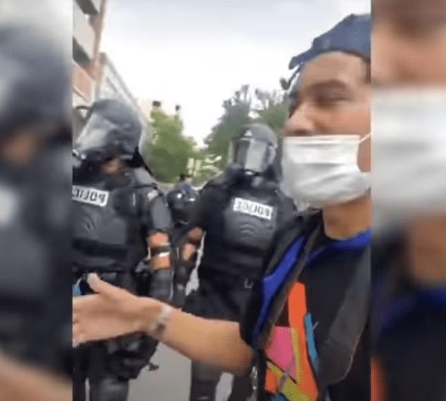 Samuel getting arrested