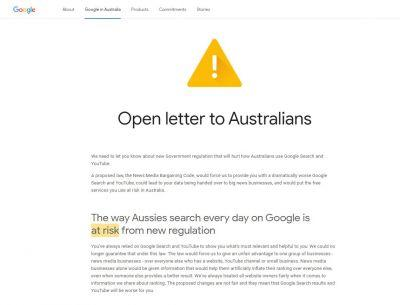 Googles Open Letter