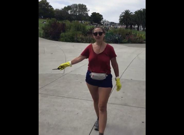 racist woman at San Francisco Park