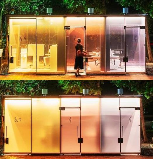 Transparent toilet