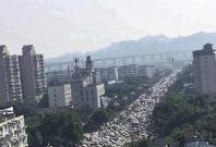 Traffic jam in Leshan