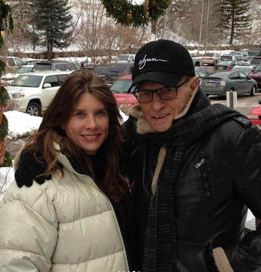 Larry King with daughter Chaia King