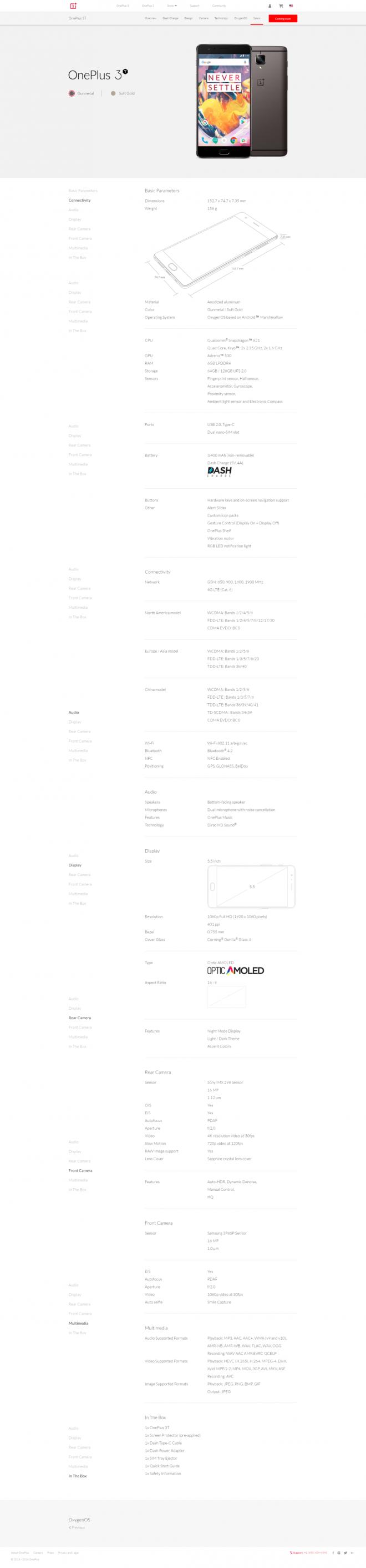 OnePlus 3T leaked specs