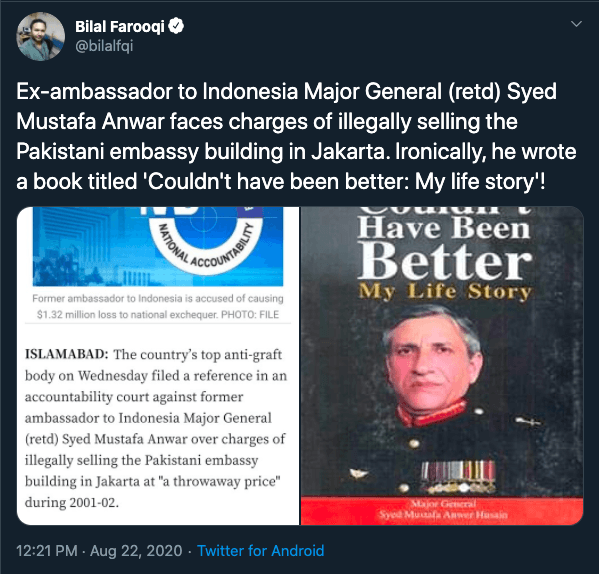 Pakistan ambassador to indonesia