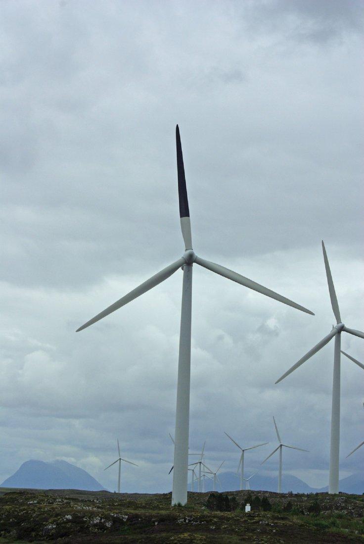 painted wind turbine