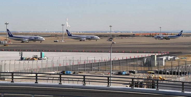 Grounded Boeing 787s