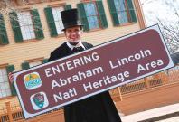 Lincoln impersonator