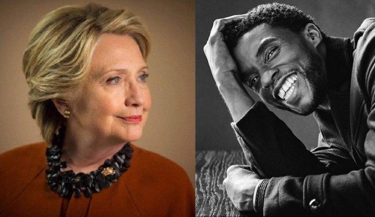 Hillary Clinton Chadwick Boseman