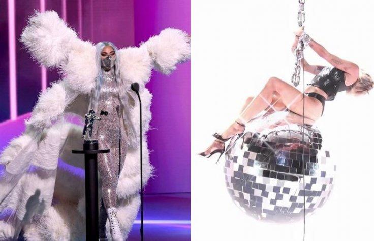Lady Gaga and Miley Cyrus