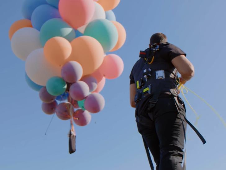 David Blaine's Death-Defying Balloon Stunt