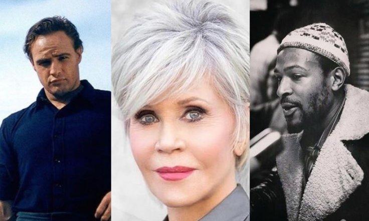 Marlon Brando, Jane Fonda, Marvin Gaye