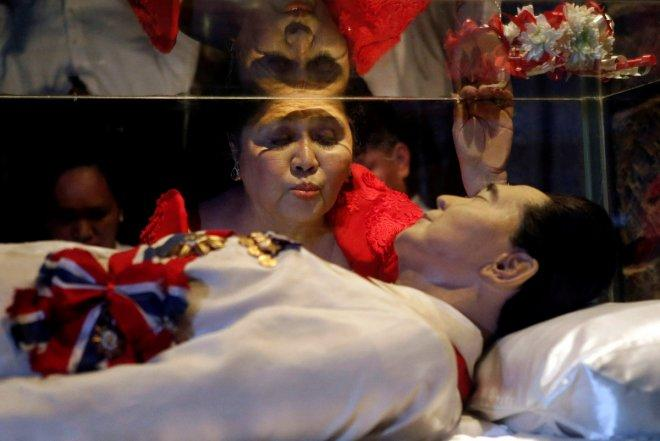 Philippine dictator Ferdinand Marcos buried at heroes' cemetery despite protests