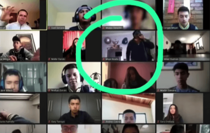 robbery during Zoom call