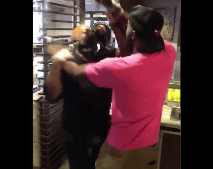 BLM Protesters assault McDonald's manager
