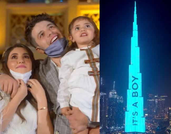 YouTube stars use world's tallest tower for gender reveal announcement