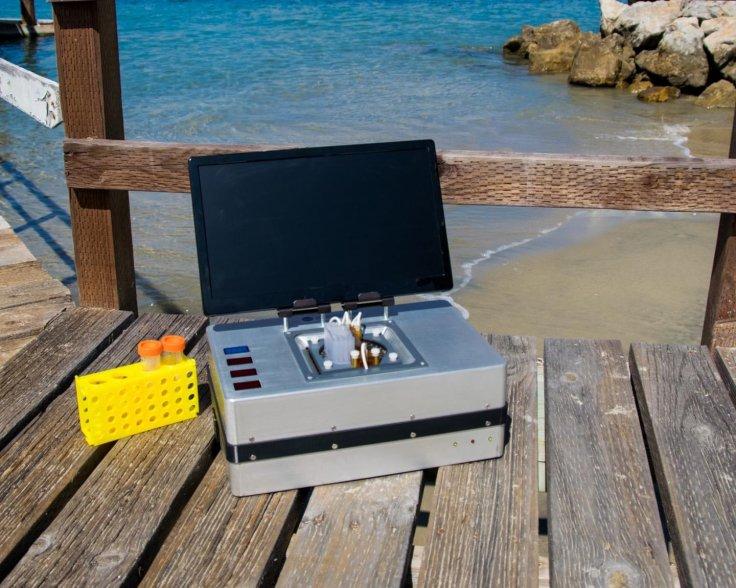 Microchip electrophoresis analyzer