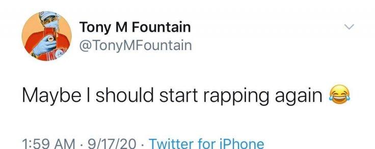 Tony M Fountain Twitter