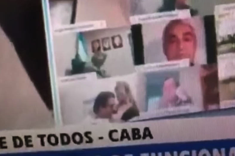 Argentine Lawmaker Caught Caressing Woman During Virtual Meeting, Suspended