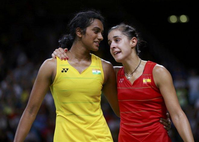 PV Sindhu and Carolina Marin