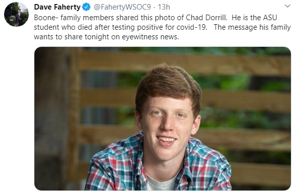 Appalachian State Student Dies Following COVID Complications