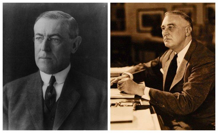 Woodrow Wilson and Franklin D Roosevelt