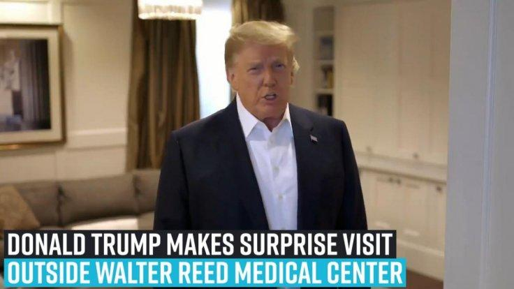 president-donald-trump-makes-surprise-visit-in-suv-outside-walter-reed-medical-center