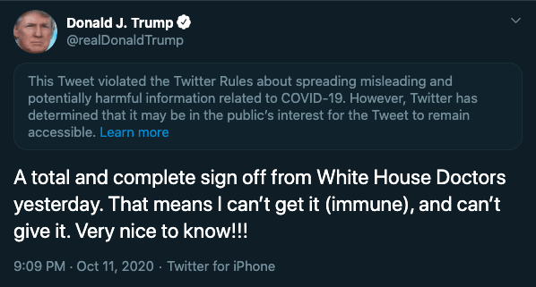 Twitter Flagged Donald Trump Tweet