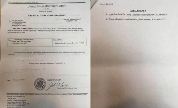 FBI subpoena