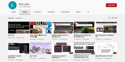 Eris Loris YouTube Page