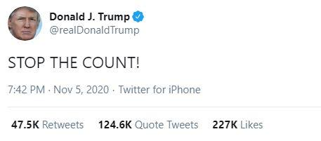 Trump tweeted