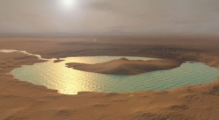 Pond in Gale Crater