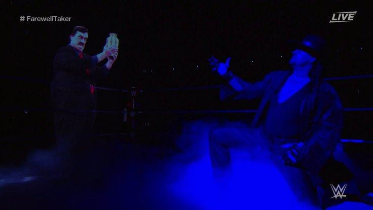 The Undertaker with Paul Bearer's Hologram