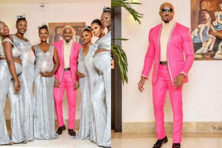 Nigerian socialite impregnants his six wives at same time