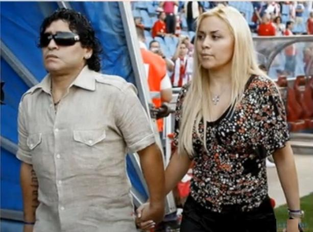 Maradona with Veronica Odeja