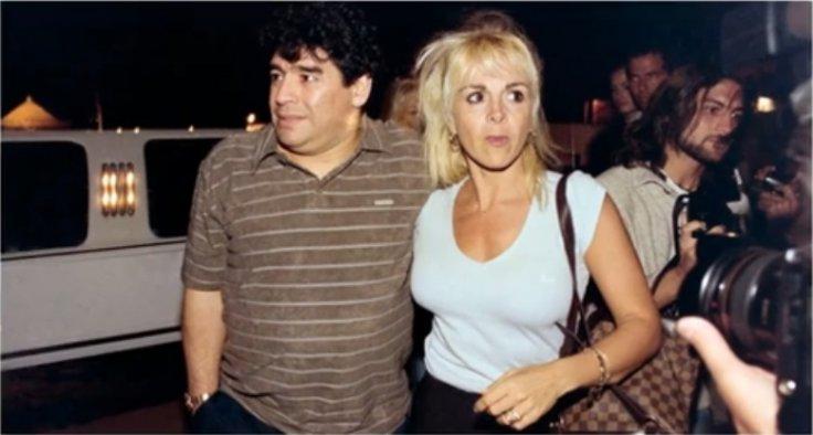 Maradona with former wife Claudia Villafane