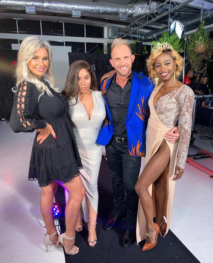 Hannes Van Der Walt with Judges