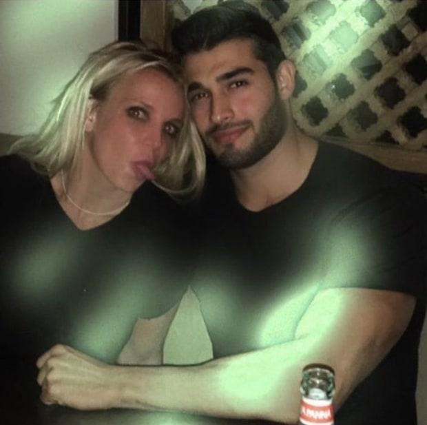 Britney Spears and Sam Asghari Instagram pic