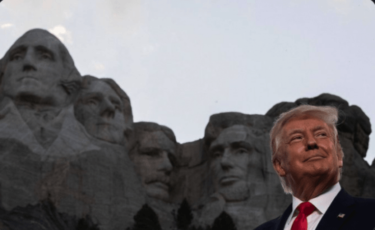 Donald Trump at Mt. Rushmore