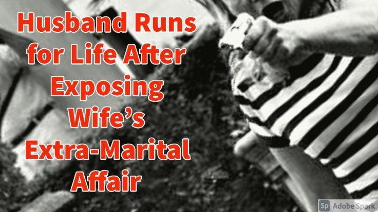Wife Chases Husband for Busting Affair