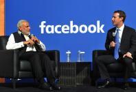 Mark Zuckerberg with Indian PM Narendra Modi