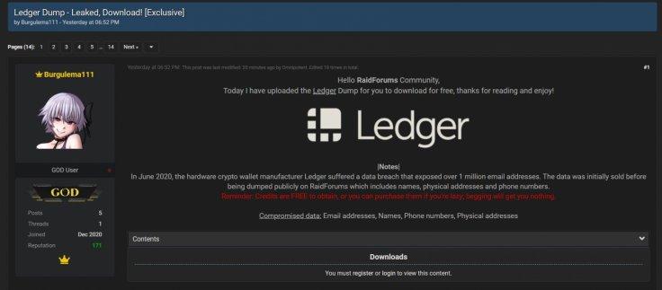 Ledger data breach