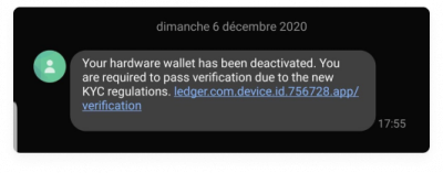 Ledger phishing attack